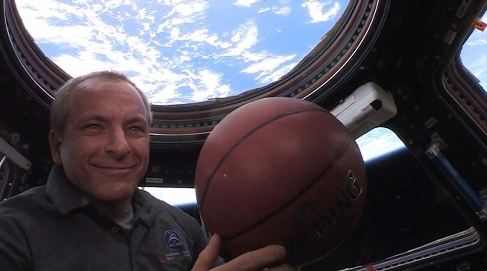 canadian nba fan international space station