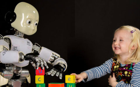 robots and child