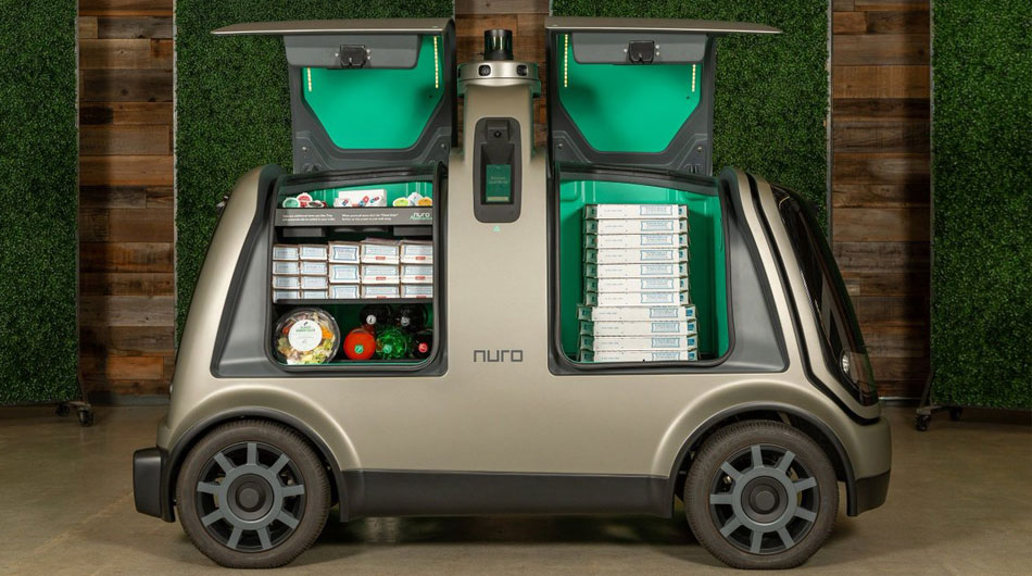 robot pizza delivery